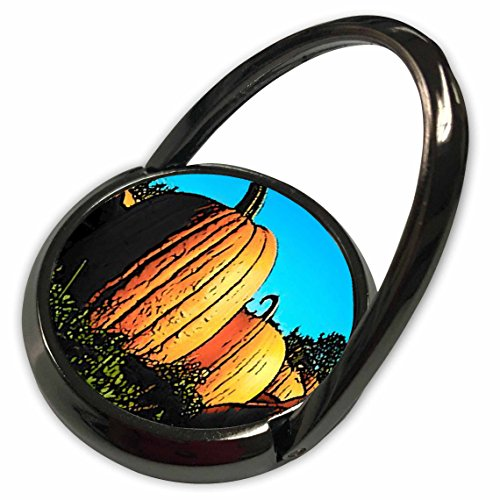 3dRose Sandy Mertens Halloween Food Designs - Pumpkin Patch In Daytime Painting Style - Phone Ring (Halloween Pumpkin Designs Painting)