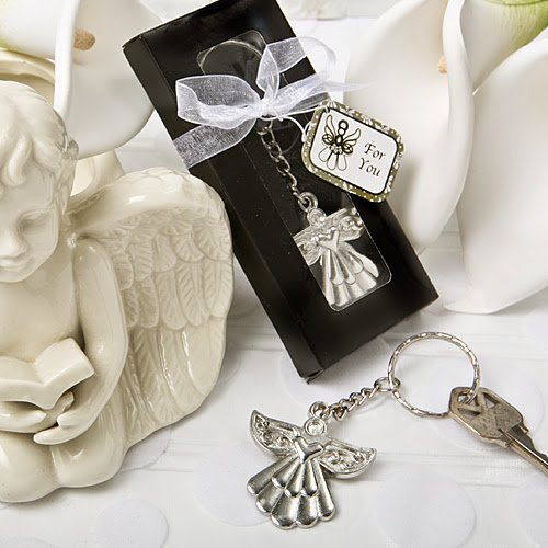 60 Guardian Angel Key Ring Favor