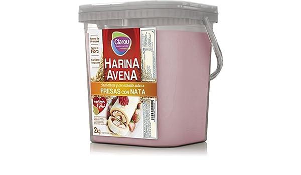 Harina de avena - 2Kg - Sabor Fresa con nata: Amazon.es: Alimentación y bebidas