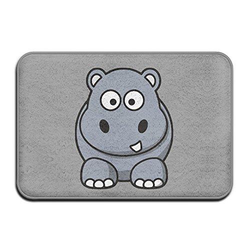 JFD Cartoon Animal Funny Hippo Non-Skid Home Mat 60x40cm
