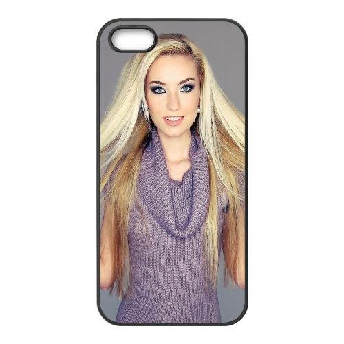 Blonde Face Smile Make Up Dress coque iPhone 5 5S cellulaire cas coque de téléphone cas téléphone cellulaire noir couvercle EOKXLLNCD22290