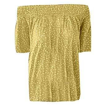 Luckycat Mujer Blusa Cuello V Camiseta de Mujer Mangas Cortas Camisa ...