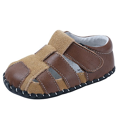 Baby Boys Girls Genuine Leather Soft Bottom Sandals First Walkers Shoes (11.5cm(6-12months), ()