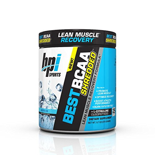 Bpi Sports Best BCAA Shredded Caffeine Free Thermogenic Recovery Formula for Lean Muscle Growth, Arctic Ice, 9.7 Ounce (Bpi Best Bcaa Shredded)