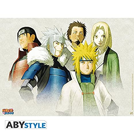 Amazon.com: Naruto Shippuden Cartel de la Hokage (52 x 38 ...