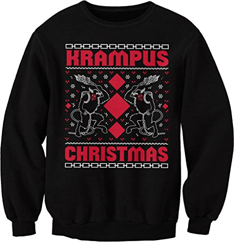 Krampus Christmas - Ugly Christmas Sweater - SWEAT SHIRT - Black, Medium