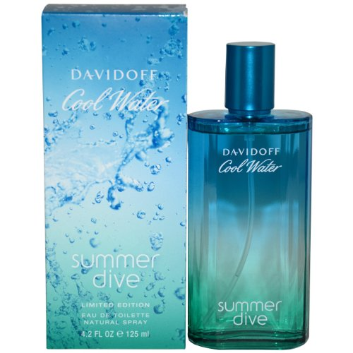 Water Spray Summer Cool (Cool Water Summer Dive by Davidoff for Men - 4.2 Ounce EDT Spray (Limited Edition))