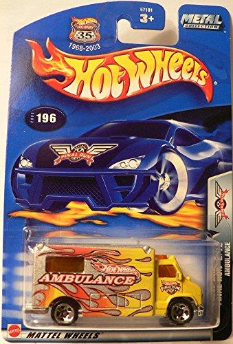 Final Run Series # 2 Ambulancia # 2003-196 Coleccionable de colección Coche Mattel Hot Wheels