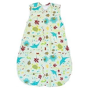 Baby Sleeping Bag - Wearable Blanket,100% Cotton, Summer Model, 1 Tog (Medium (10-24 mos))