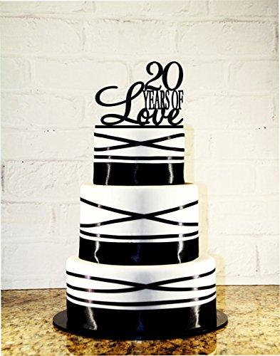 20th Birthday Cake Topper