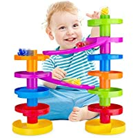 Ball Drop Advanced with Bridge. Marble Run Educational Family Fun for Baby and Toddler.