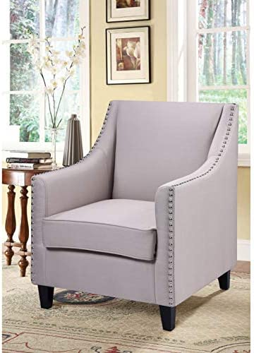 Best Master Furniture Living Room Accent Chair Taupe