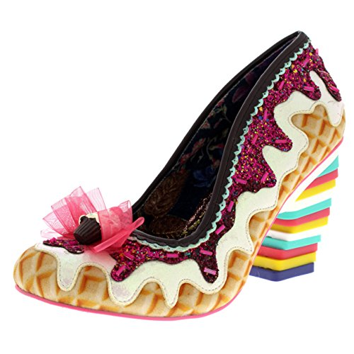 Womens Irregular Choice Sweet Treats Court Shoes Ice Cream High Heels - White Multi - 9 Ice Cream Shoes Women