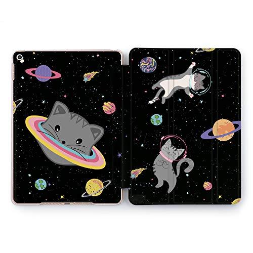 (Wonder Wild Space Cat iPad Case 9.7 Pro inch Mini 1 2 3 4 Air 2 10.5 12.9 2018 2017 Design 5th 6th Gen Clear Print Smart Hard Cover Galaxy)