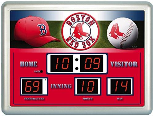 Boston Red Sox Logo Scoreboard Digital Wall Clock