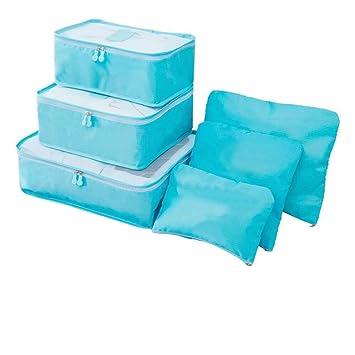f076e30e51fd Amazon.com : Saasiiyo 6Pcs/set Travel Clothes Storage Bag Set Tidy ...