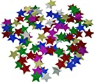 Jim Marvin Collection Fancy Star Confetti Multi Color Shiny for Party Supply , Weddings , Fiestas , Birthdays