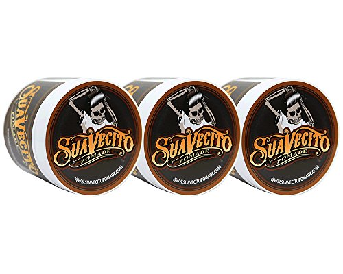 Suavecito Pomade Original Hold 4 oz (Pack of 3)