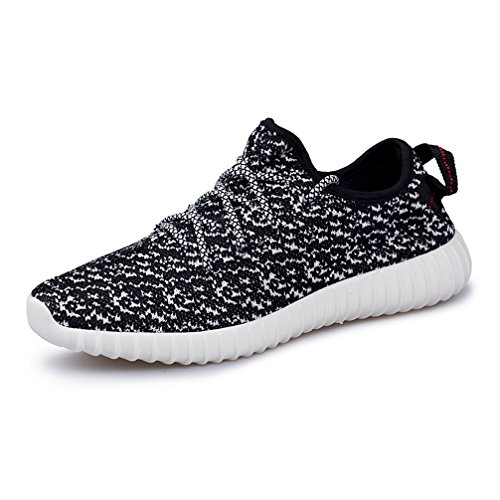 AMZMINE Mens Womens Unisex Couple Sport Shoes Fashion Sneakers Breathable Athletic Running Shoes Black White a7loeq