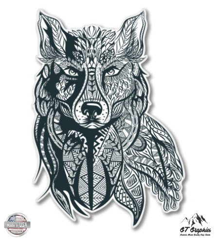 GT Graphics Tribal Wolf Design - 5