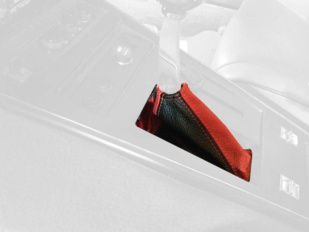 RedlineGoods Shift Boot AUTO Compatible with Chevrolet Corvette C3 1977-82 Black Leather-Black Thread