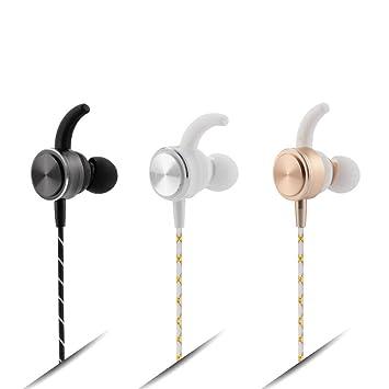 HEADSET Nuevo Auricular inalámbrico Colgante Bluetooth 4.1 Deportes Auriculares Estéreo Sudor Xuan (Color : Oro): Amazon.es: Deportes y aire libre