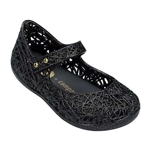 Melissa Shoes Mini Campana Zig Zag 17 Black Glitter