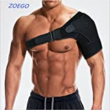 ZOEGO Shoulder Stability Support with Pressure Pad Care - for Shoulder Cuff Medical Posture Correction, Support, Dislocation, Bursitis, Universal Shoulder Compression Sleeve Shoulder Compression Set