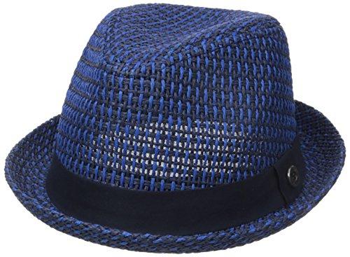 ben-sherman-mens-open-vent-straw-fedora-staples-navy-small-medium