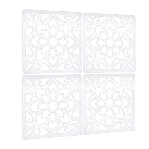 Lchen Hanging Room Divider,4 Pieces Wood-plastic 5mm Thick Screen Panel for Living Room And Beding Room(HTT-4S,11.4''X11.4'') by Lchen