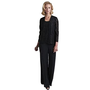 Ike Chimbandi Womens 3 Pieces Pant Suits Plus Size Mothers Dress
