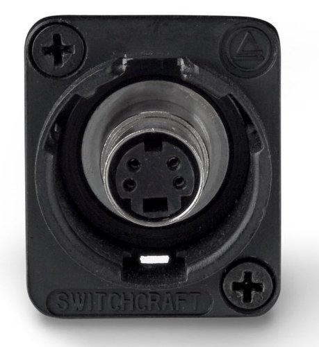 S-video Db9 - Switchcraft EHSVHS2BX S-VIDEO Jack, Female to Female Feedthru Panel Mount, Black Finish