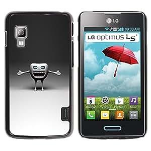 LECELL -- Funda protectora / Cubierta / Piel For LG Optimus L5 II Dual E455 E460 -- Funny Tooth --