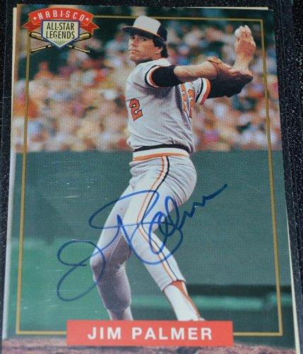 1994 Nabisco All Star Legends Jim Palmer Autograph (Card Jim Palmer)