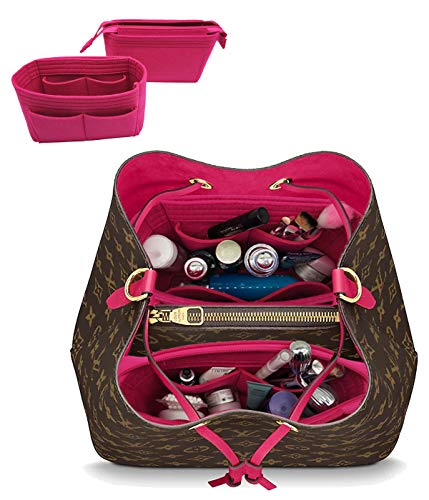 - LEXSION 2-Pack Felt Handbag Organizer,Insert purse organizer Fits LV Neonoe Perfectly Rosy M