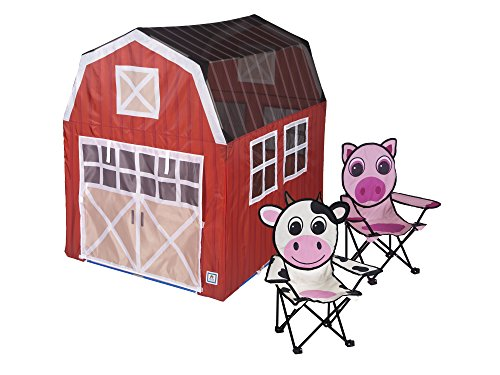 (Pacific Play Tents 2040 Barnyard House Play Tent/2 Chairs, 48