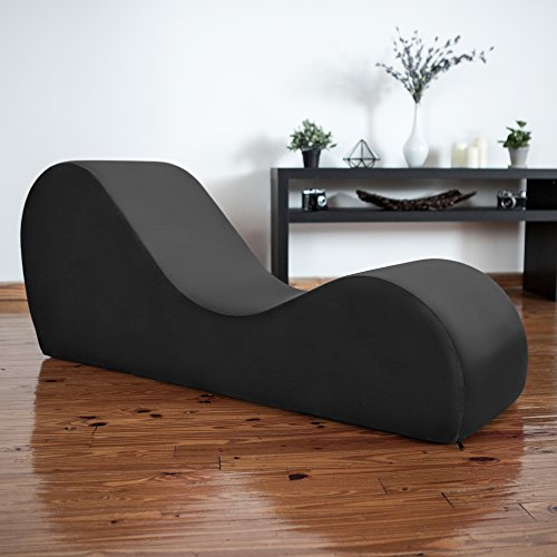 Liberator Chaise Lounge Yoga Chair - Black Micro-velvet by Liberator