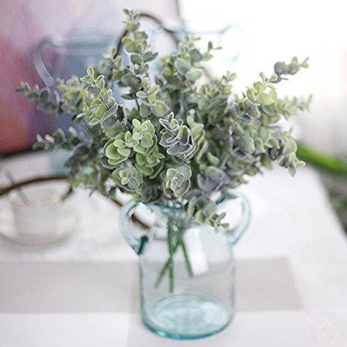 AMAZZANG-Fake Artificial Plastic & Silk Eucalyptus Plant Flowers Home & Garden Decor NEW (Silk Eucalyptus)