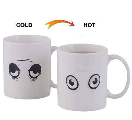 Amazon com: Ceramic Magic Heat Sensitive Changing Coffee Mug