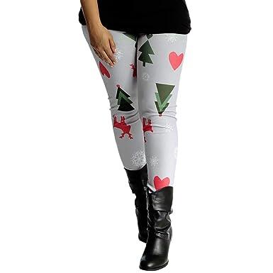 Pantalón Chandal Mujer Impresión Sombrero de Navidad,Mallas ...