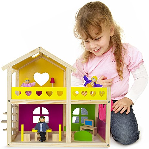 Wooden-Wonders-Cozy-Cottage-Dollhouse-with-10-Pieces-of-Furniture-and-3-Dolls-by-Imagination-Generation