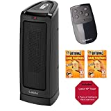 "LASKO ELECTRONIC CERAMIC TOWER SPACE HEATER WITH REMOTE CONTROL 16""TALL WITH WIDESPREAD OSCILLATION"