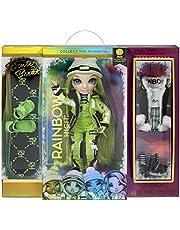 Rainbow High Winter Break Jade Hunter - Groene fashion pop met 2 outfits, sneeuw uitrusting & standaard - Incl. Ski's, schaatsen, accessoires & meer - Cadeau & Verzamelbaar - 6+ jaar
