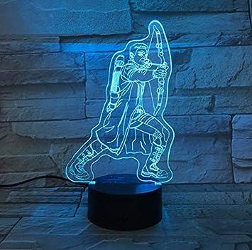 BMY 3D Arco Flecha Forma Lámpara de Escritorio Decoración para el ...