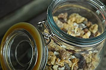 1810db7ca51 Image Unavailable. Image not available for. Color  Home Comforts Framed Art  for Your Wall Muesli Close Up Glass Mason Jar Storage Breakfast 10x13