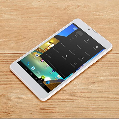 Tablet PC, 7'' Tablet Android 5.0 Quad Core HD, Dual SIM Camera Blue-Tooth Wi-Fi, 3D Game Supported (Gold) by Hometom (Image #4)