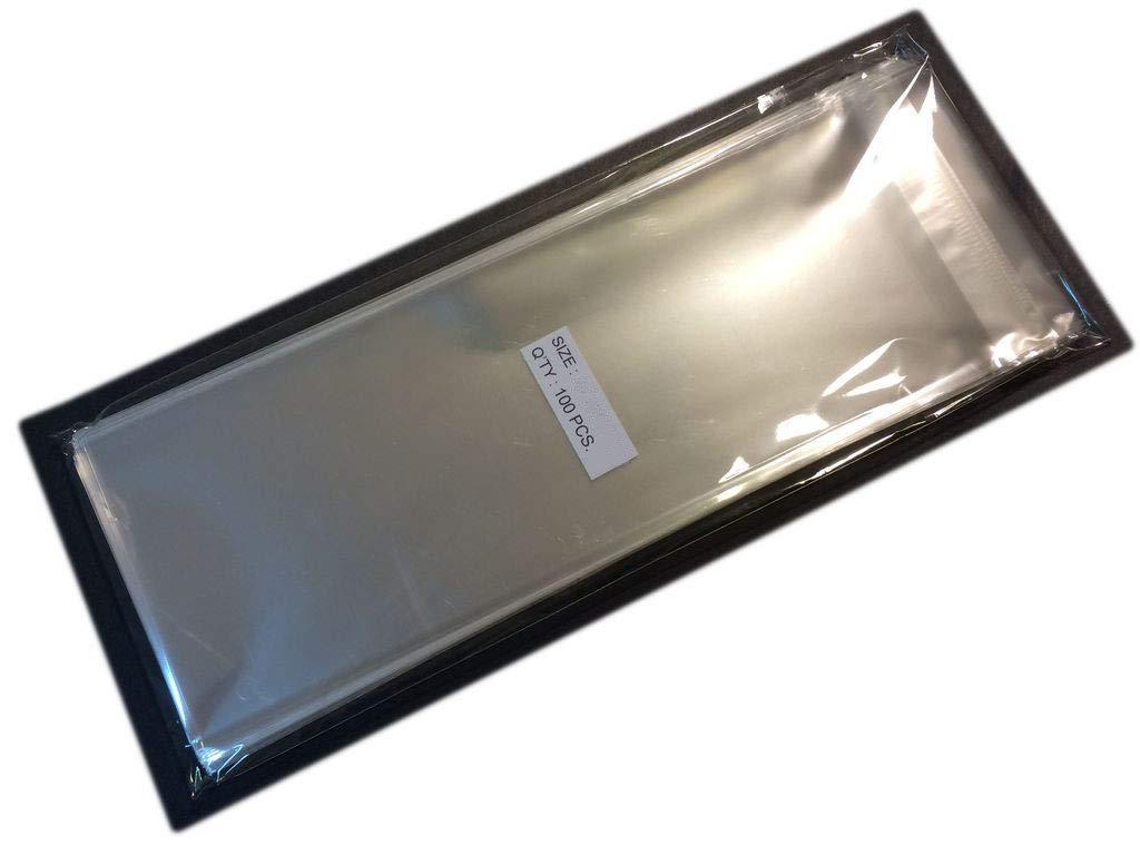 UNIQUEPACKING 100 Pcs 4x10 Clear Resealable Cello Cellophane Bags