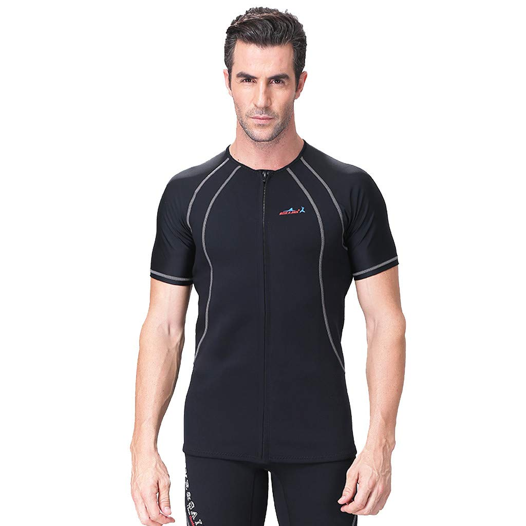 Pandaie Mens Shorty Wetsuit 1.5MM Neoprene Thermal Diving Wetsuit Winter Swimming Surfing Swimsuit