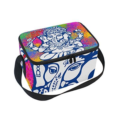 Ganesh Ganesha Insulated Lunch Bag Box Cooler Bag Reusable Tote Bag Outdoor Travel Picnic Bags
