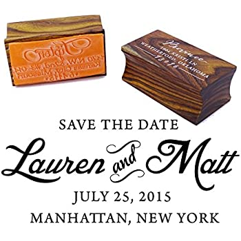 Amazoncom Save The Date Rubber Stamp Business Stamps Office